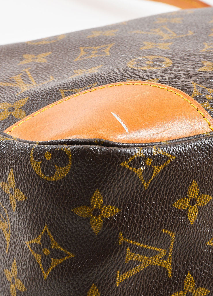 "Louis Vuitton Brown Monogram Coated Canvas ""Boulogne"" Shoulder Bag Detail"