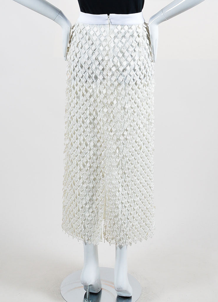Off-White Balenciaga Diamond Fringe Midi Skirt Back