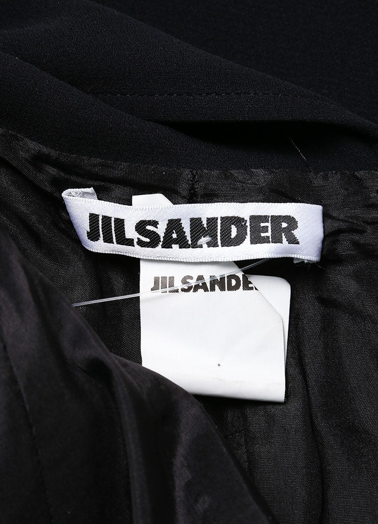 Jil Sander Black Silk Open Back Sleeveless Dress Detail
