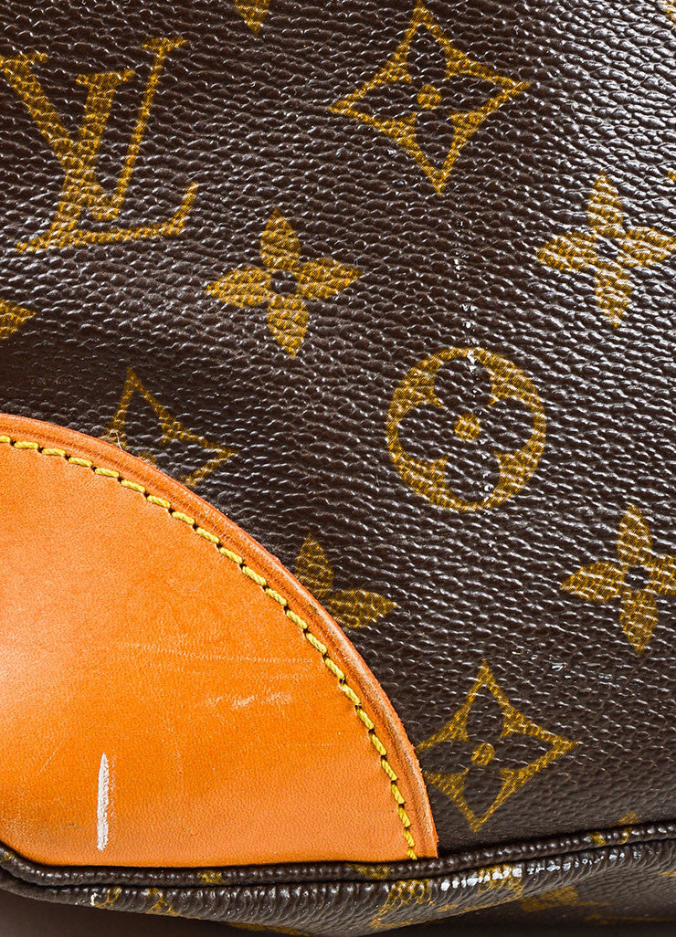 "Louis Vuitton Brown Monogram Coated Canvas ""Boulogne"" Shoulder Bag Detail 2"
