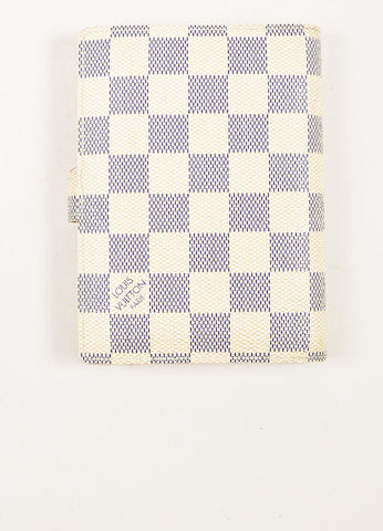 Louis Vuitton Damier Azur Canvas Small Notebook Cover Backview