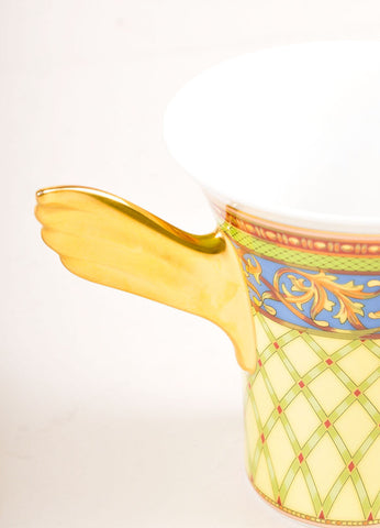 "Versace Rosenthal Gold and Multicolor ""Russian Dream"" Tea Cup Detail"