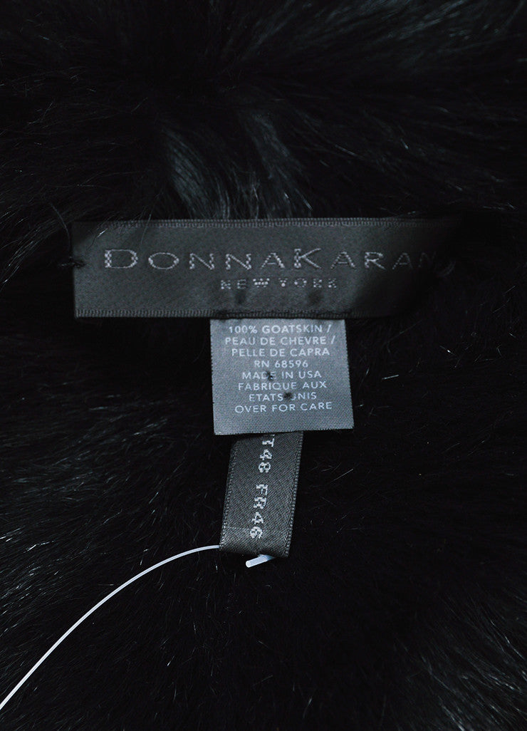 Black Donna Karan Suede Fur Lined Coat Brand