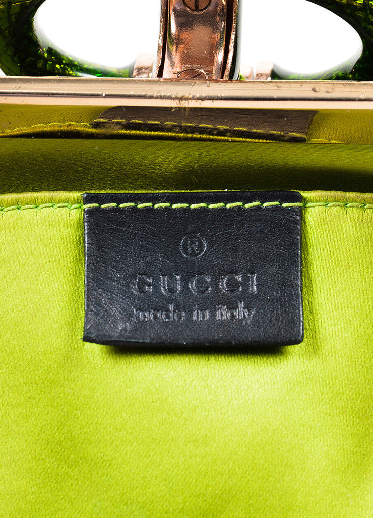 Brown, Green, and Black Tom Ford for Gucci Monogram Canvas Crocodile Snake Head Bag Brand