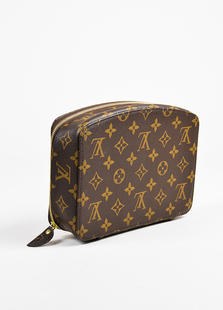 "Louis Vuitton Brown Monogram Coated Canvas ""Monte Carlo"" Jewelry Case Backview"