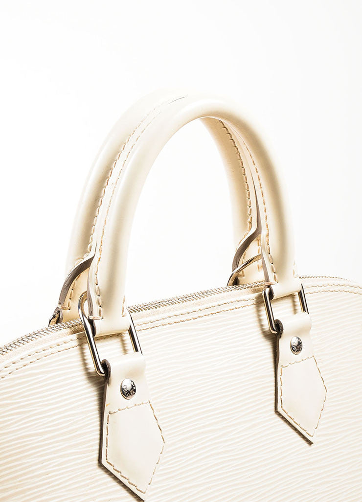 "Louis Vuitton Cream Epi Leather ""Alma PM"" Structured Bag"