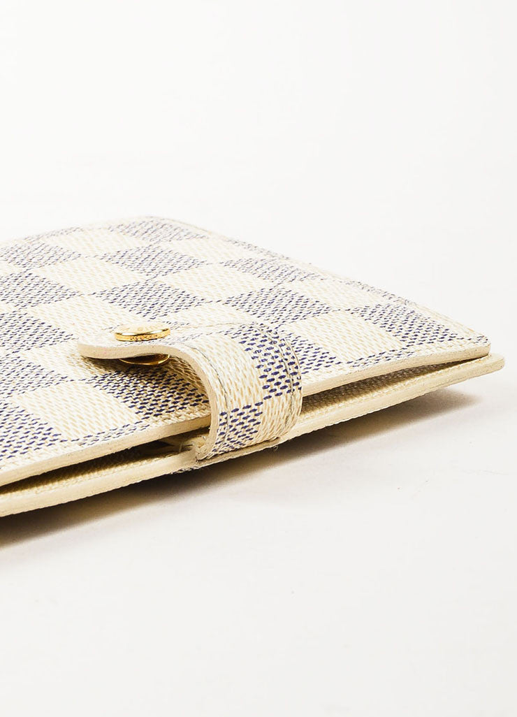 Louis Vuitton Damier Azur Canvas Small Notebook Cover Detail