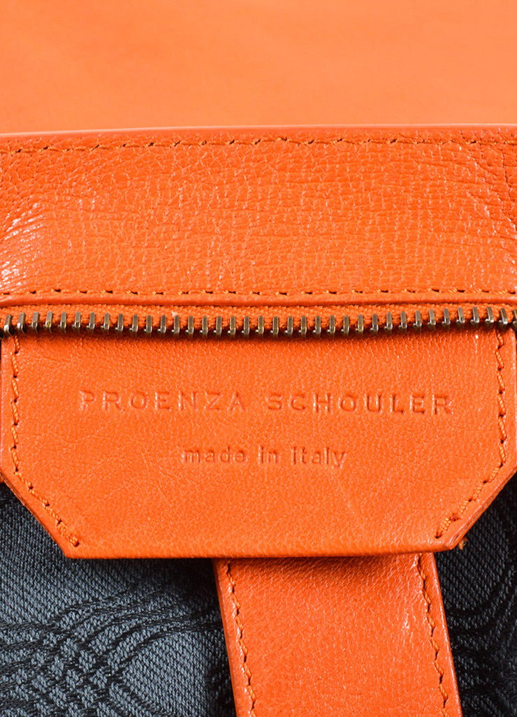 "Proenza Schouler Orange ""PS1"" Large Satchel Flap Bag Brand"