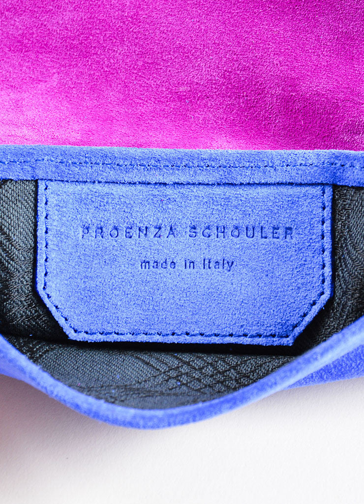 "Proenza Schouler Grape Purple and Cobalt Blue Suede Leather ""PS1"" Wallet Brand"