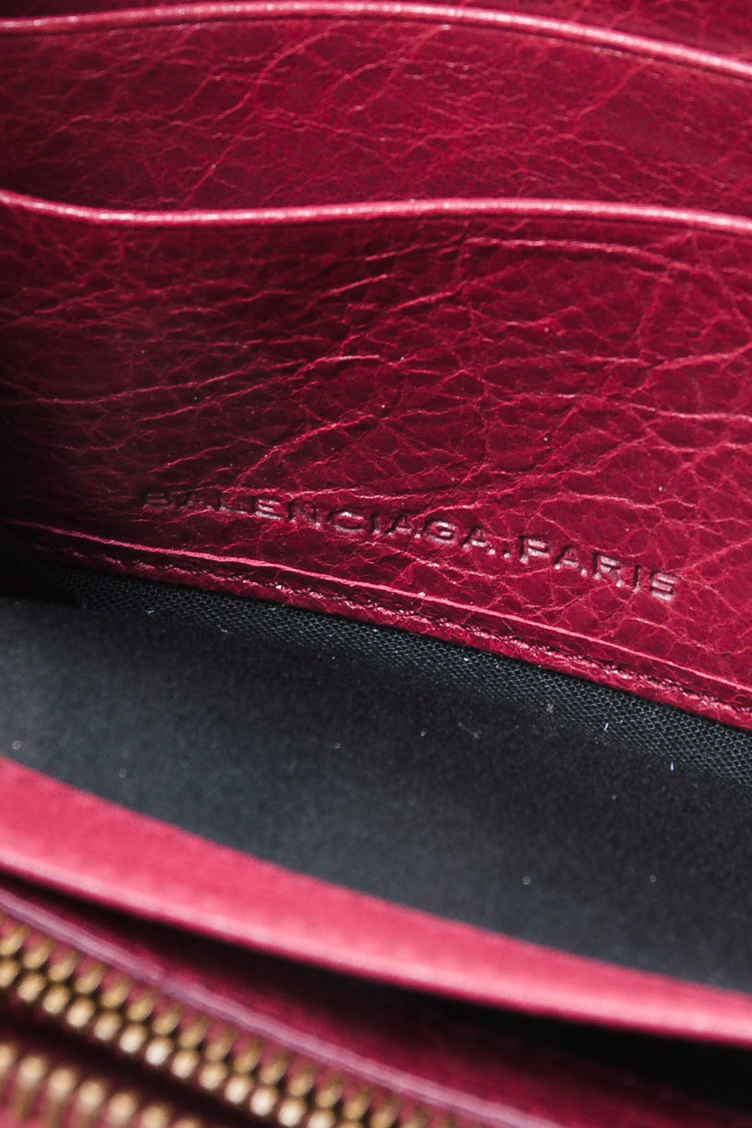 Maroon Red Leather Classic Continental Zip Around Wallet Brand