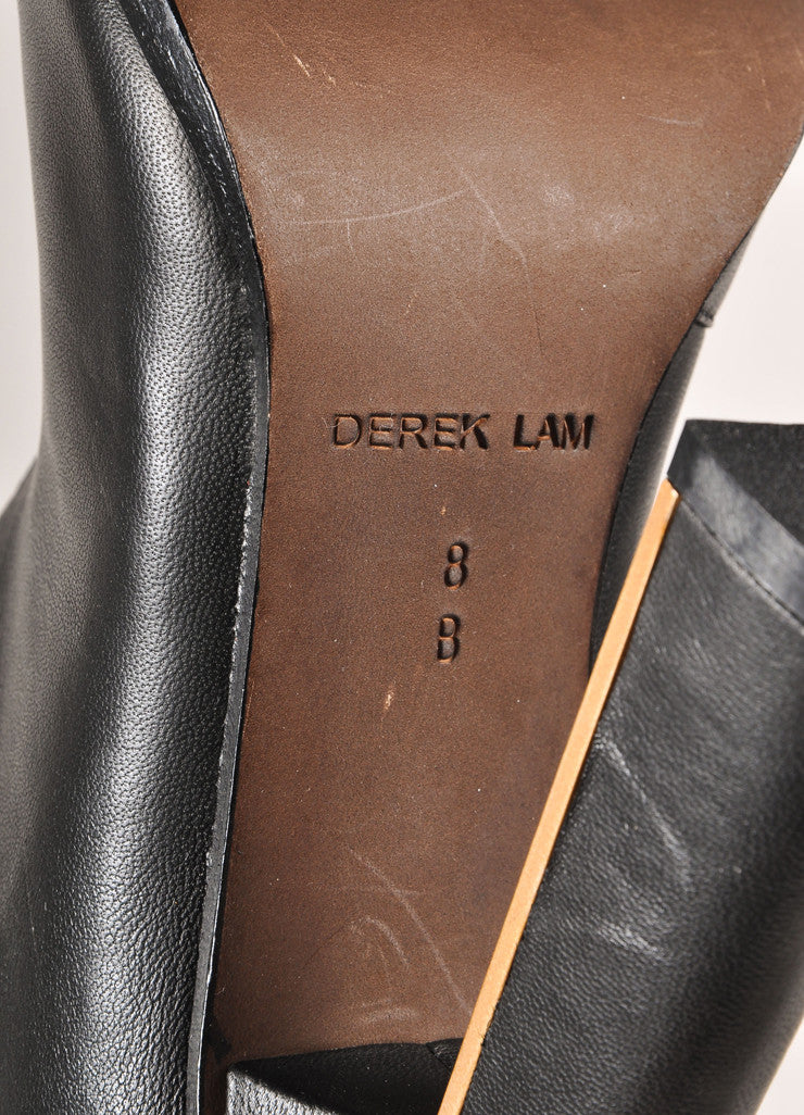 "Derek Lam New In Box Black Leather Knee High Wrap ""Tonya"" High Heeled Boots Brand"