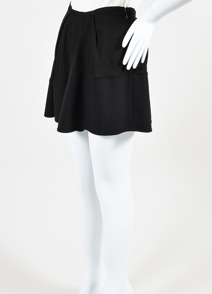 "Isabel Marant Black Pleated ""Rumer"" Asymmetrical Mini Skirt Sideview"