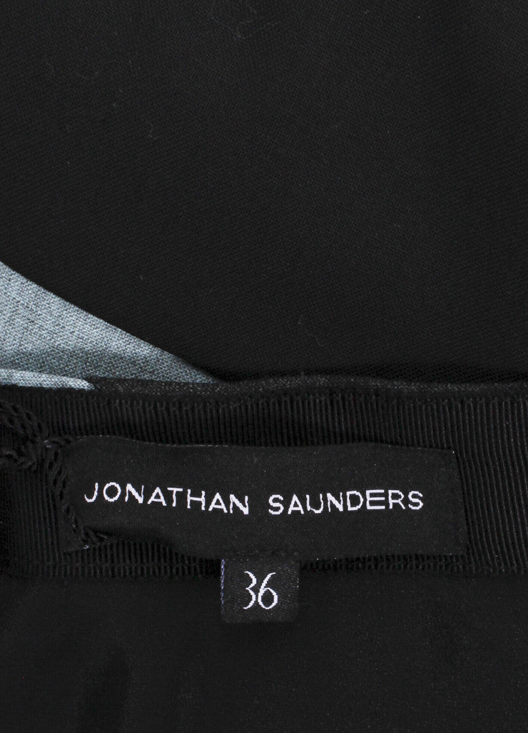 "Jonathan Saunders New With Tags Multicolor Contrast Panel ""Amelia"" Bias Skirt Brand"