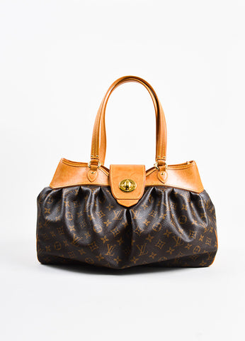 "Brown Louis Vuitton Monogram Canvas ""Boetie MM"" Tote Bag Front"