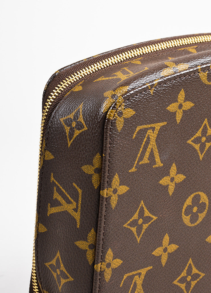 "Louis Vuitton Brown Monogram Coated Canvas ""Monte Carlo"" Jewelry Case Detail"