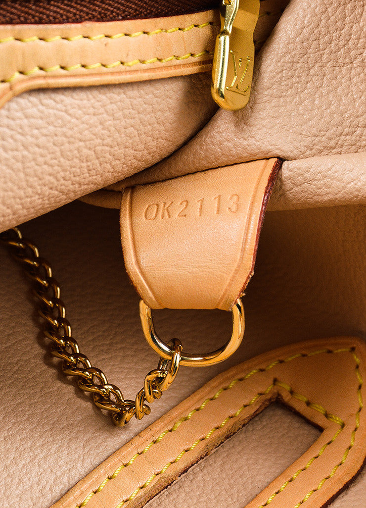 "Louis Vuitton Brown and Tan Monogram Coated Canvas ""Bucket"" Shoulder Bag Date Code"
