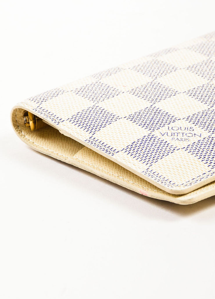 Louis Vuitton Damier Azur Canvas Small Notebook Cover Bottom View