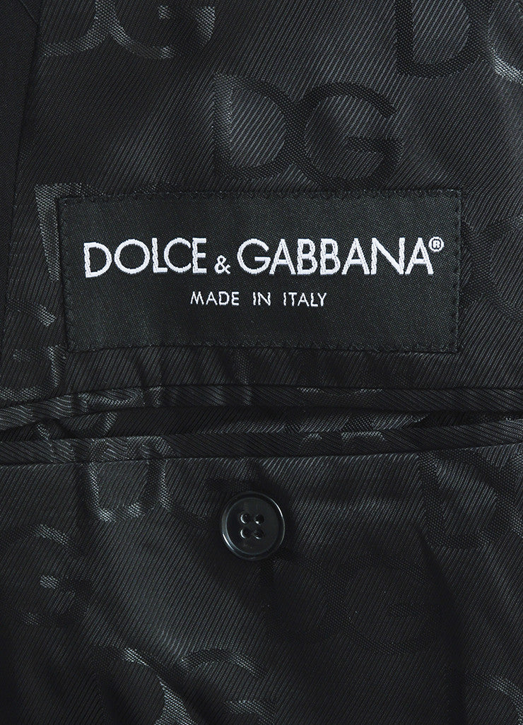 Men's Dolce & Gabbana Black Wool Slim Leg Suit Brand