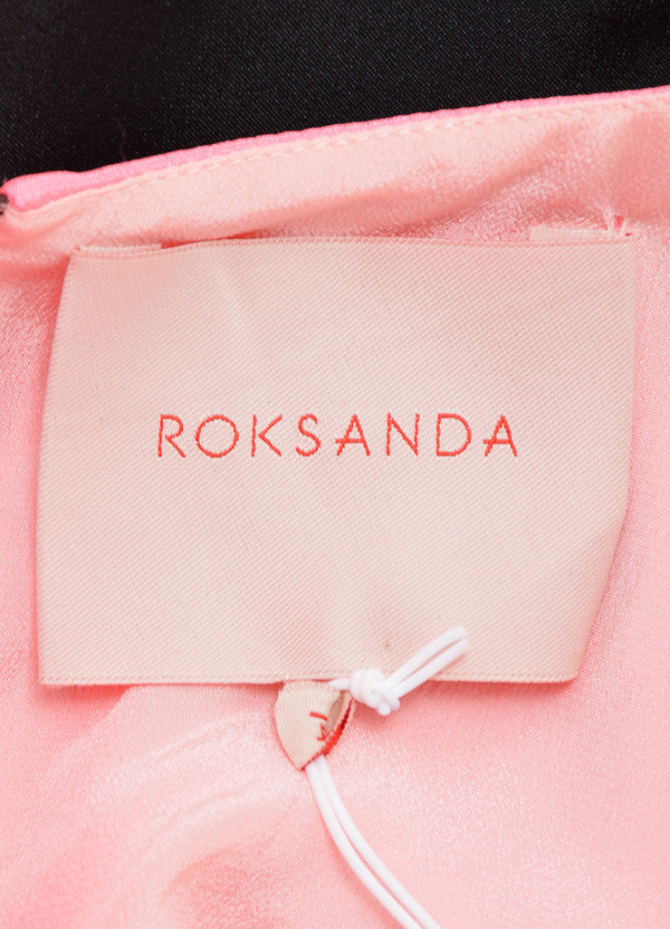 Roksanda Neon Pink and Black Silk Contrast Sleeveless Tent Dress Brand