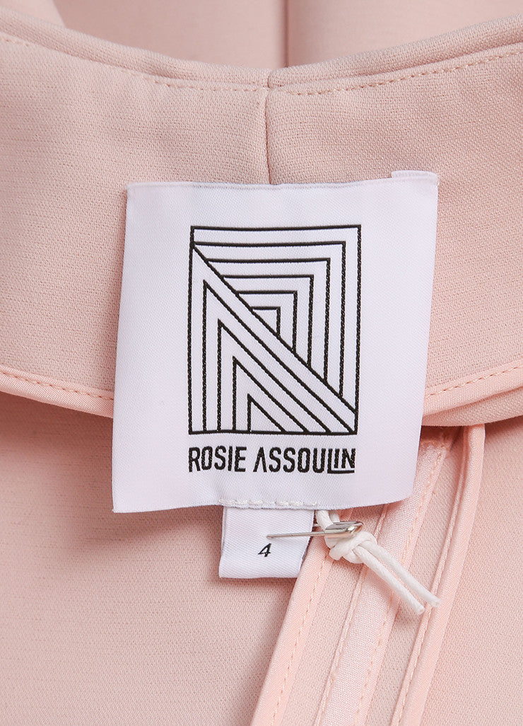 Rosie Assoulin New With Tags Blush Pink Sleeveless Flared Knit Swimsuit Gown Brand