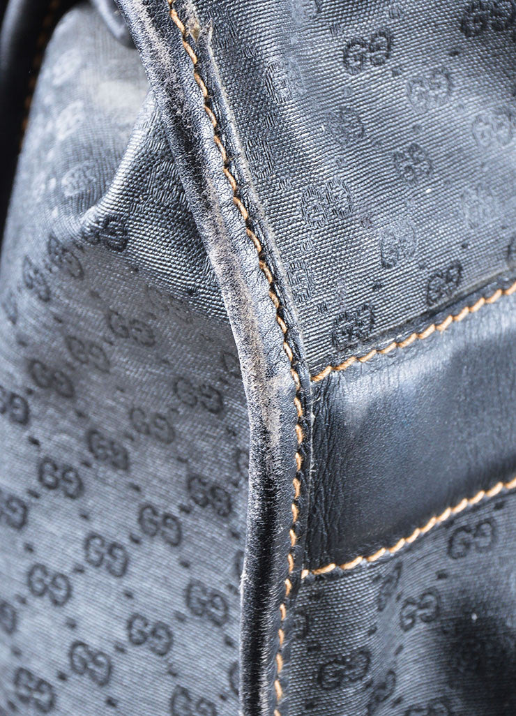 Black Gucci Monogram Coated Canvas Hanging Garment Bag Detail 4