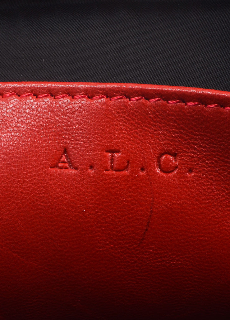A.L.C. Red Leather Three Zip Pouch Cross Body Bag Brand
