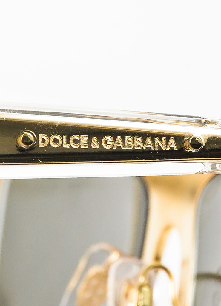 Dolce & Gabbana Limited Edition 18K Gold Plated Mirrored Square Sunglasses Brand