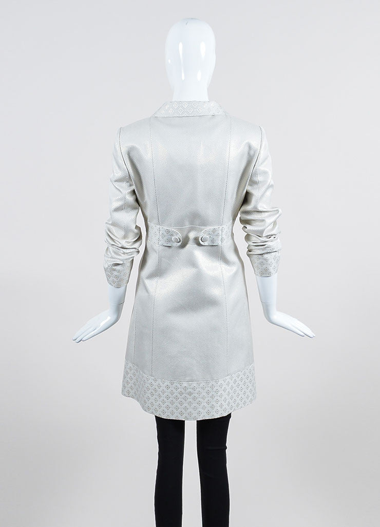 Cream and Metallic Gold Gucci Jacquard Weave Jacket Backview
