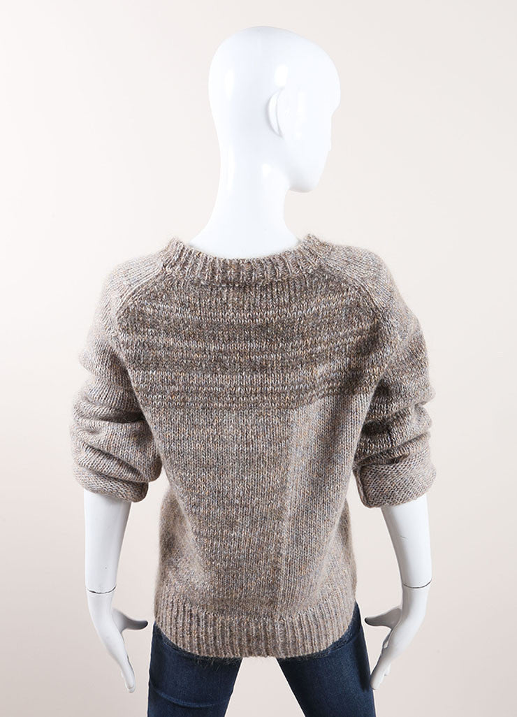 "Isabel Marant Grey Mohair and Wool ""Naoko"" Pull Over Sweater Backview"