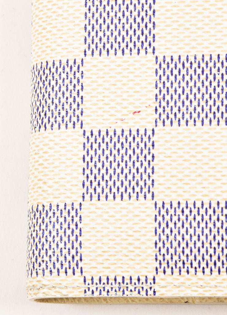 Louis Vuitton Damier Azur Canvas Small Notebook Cover Detail 2
