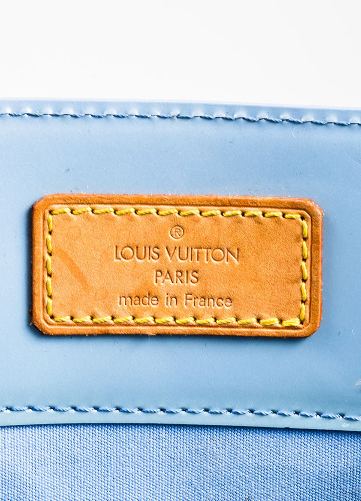 "Pale Blue Louis Vuitton Monogram Vernis ""Reade MM"" Tote Bag Brand"