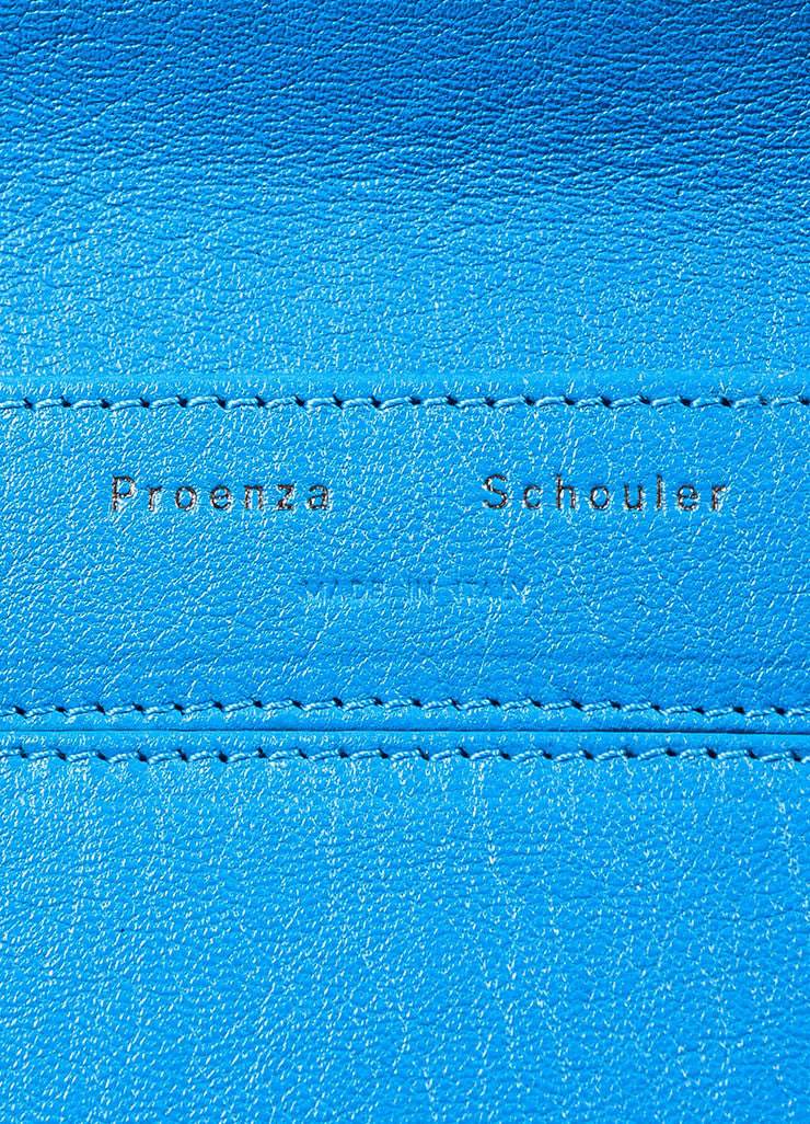 "Proenza Schouler Blue Leather ""PS1 Wallet Crossbody"" Bag Brand"