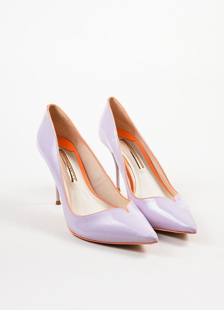 Lavender Sophia Webster Leather Izzy Pointed Toe Pumps Front