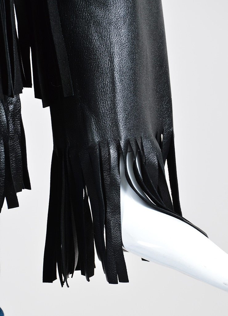 "The Perfext Black Leather Fringe ""April"" Jacket Detail"