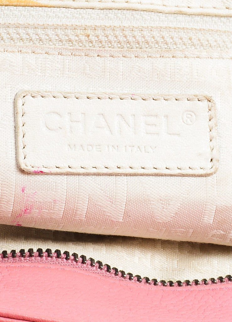 Chanel Pink Quilted Caviar Leather 'CC' Tote Bag Brand