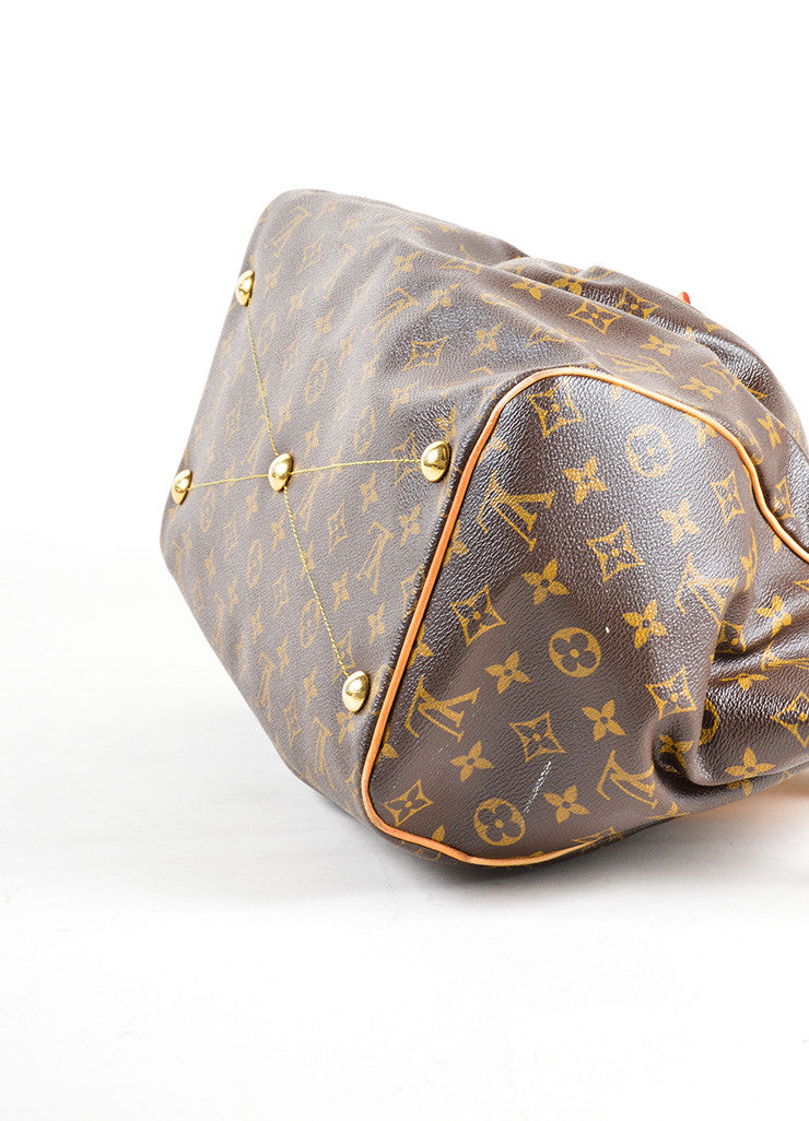 "Louis Vuitton Brown Monogram Canvas Leather Trim ""Tivoli GM"" Shoulder Bag Bottom View"