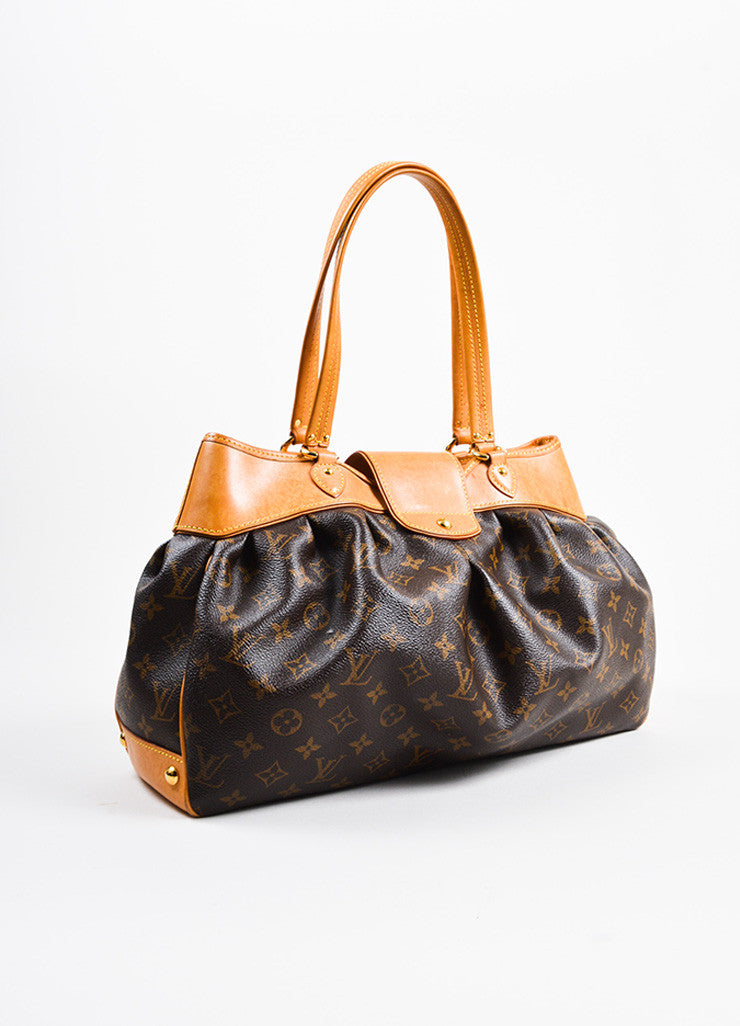 "Brown Louis Vuitton Monogram Canvas ""Boetie MM"" Tote Bag Side"