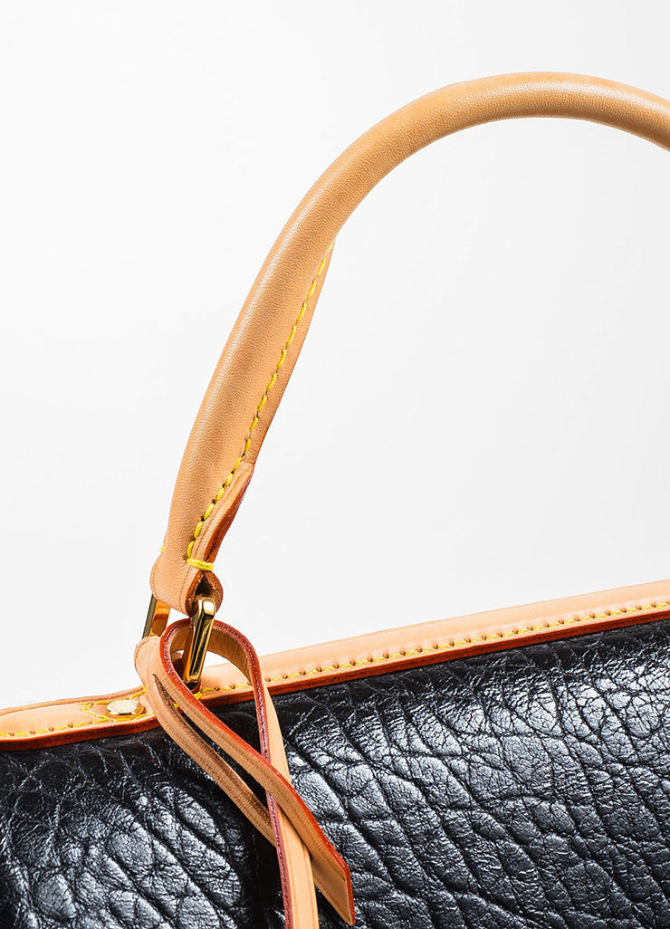 "Louis Vuitton Black Leather and Canvas Sequined ""Fleur De Jais Carrousel"" Bag Detail 2"