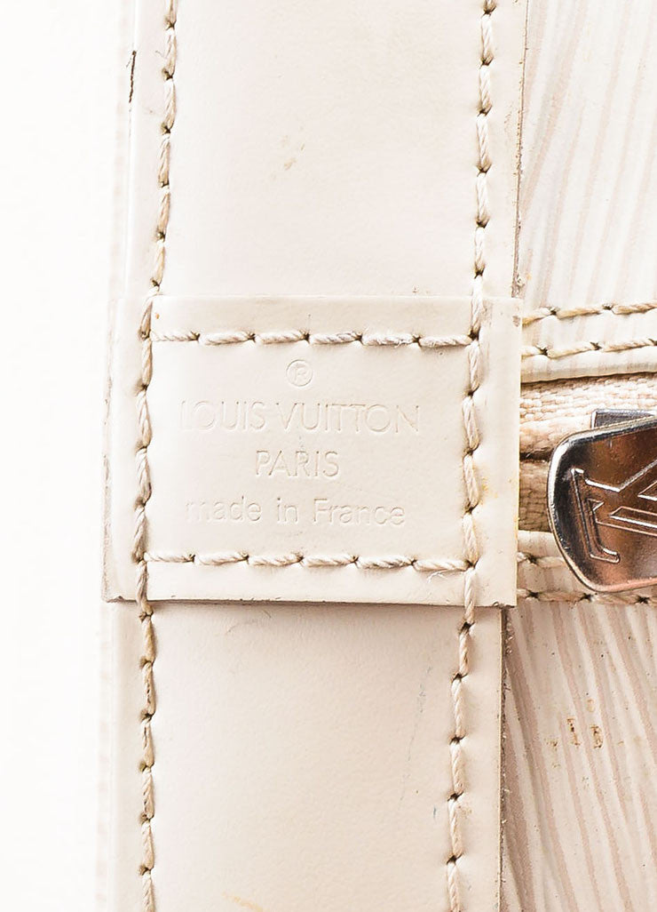 "Louis Vuitton Cream Epi Leather ""Alma PM"" Structured Bag Brand"