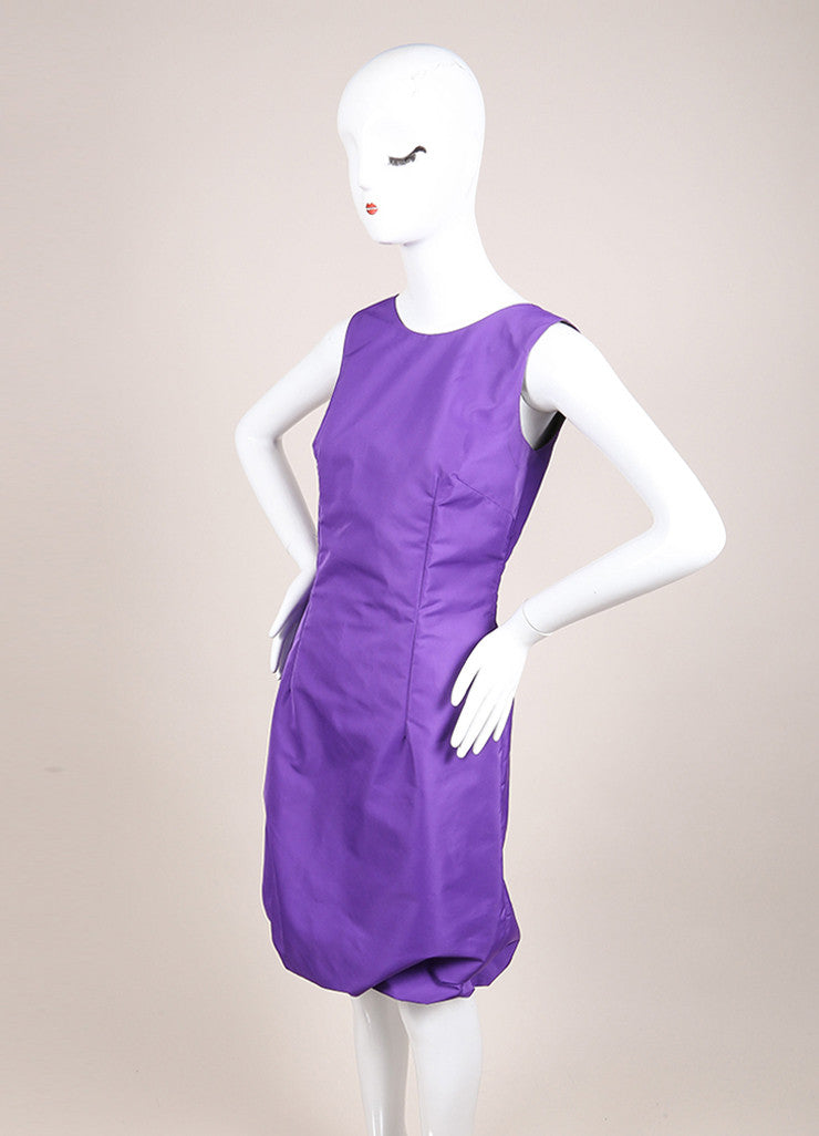 Dolce & Gabbana New With Tags Purple Sleeveless Bubble Hem Dress Sideview