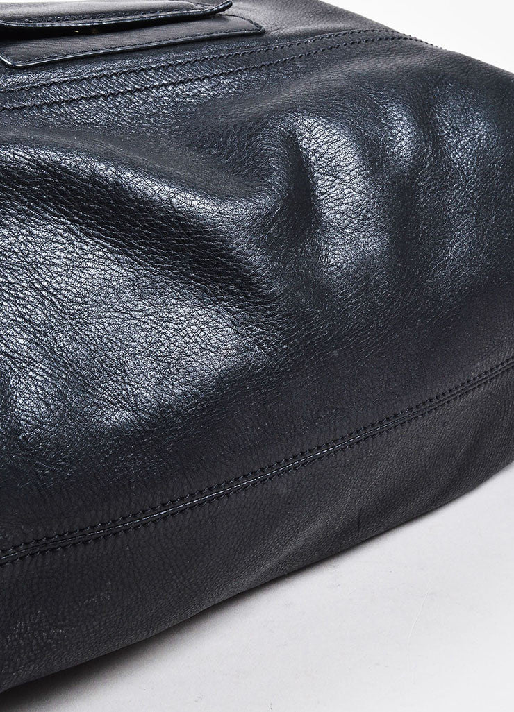 "Black Givenchy Grained Leather ""Pandora"" Messenger Bag Detail"
