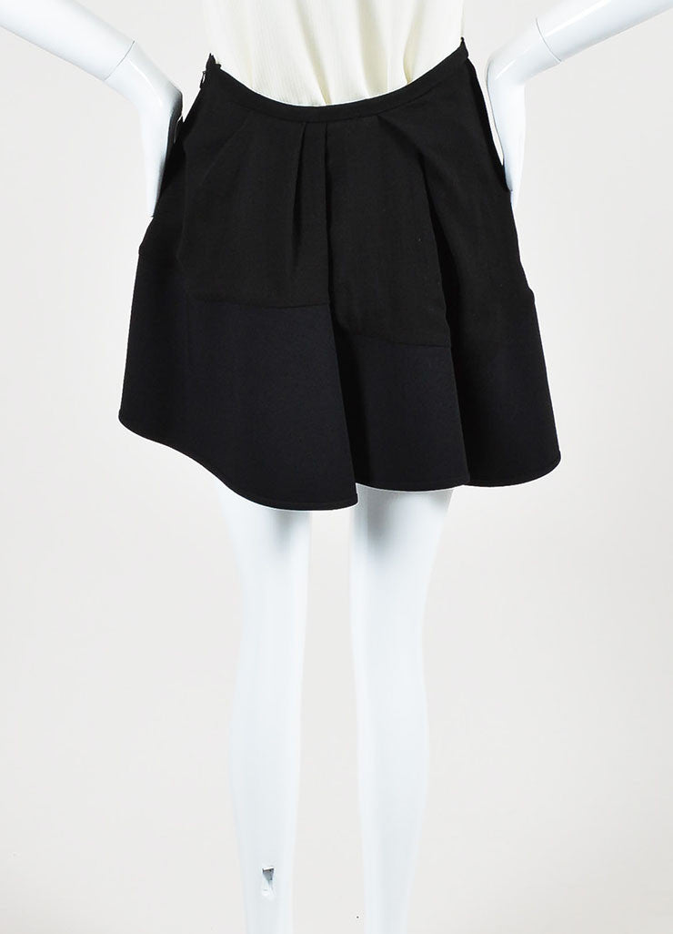 "Isabel Marant Black Pleated ""Rumer"" Asymmetrical Mini Skirt Backview"