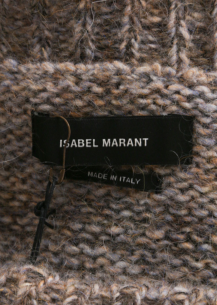 "Isabel Marant Grey Mohair and Wool ""Naoko"" Pull Over Sweater Brand"