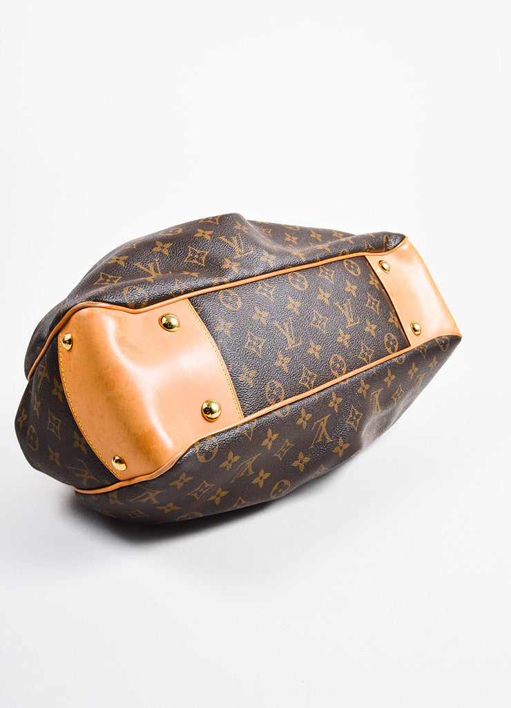 "Brown Louis Vuitton Monogram Canvas ""Boetie MM"" Tote Bag Seat"
