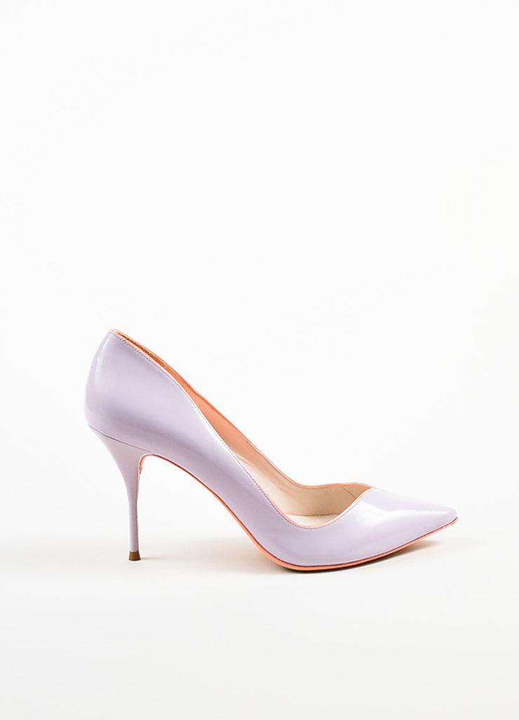 Lavender Sophia Webster Leather Izzy Pointed Toe Pumps Side