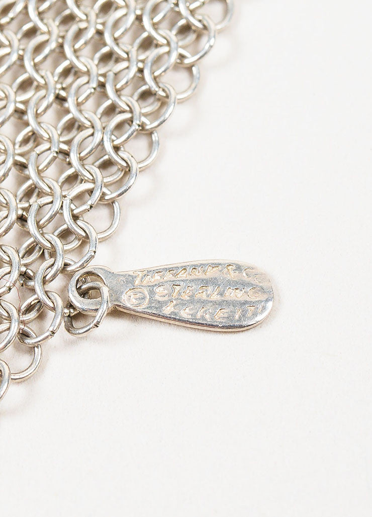 Sterling Silver Tiffany & Co. Mesh Scarf Tie Necklace Brand