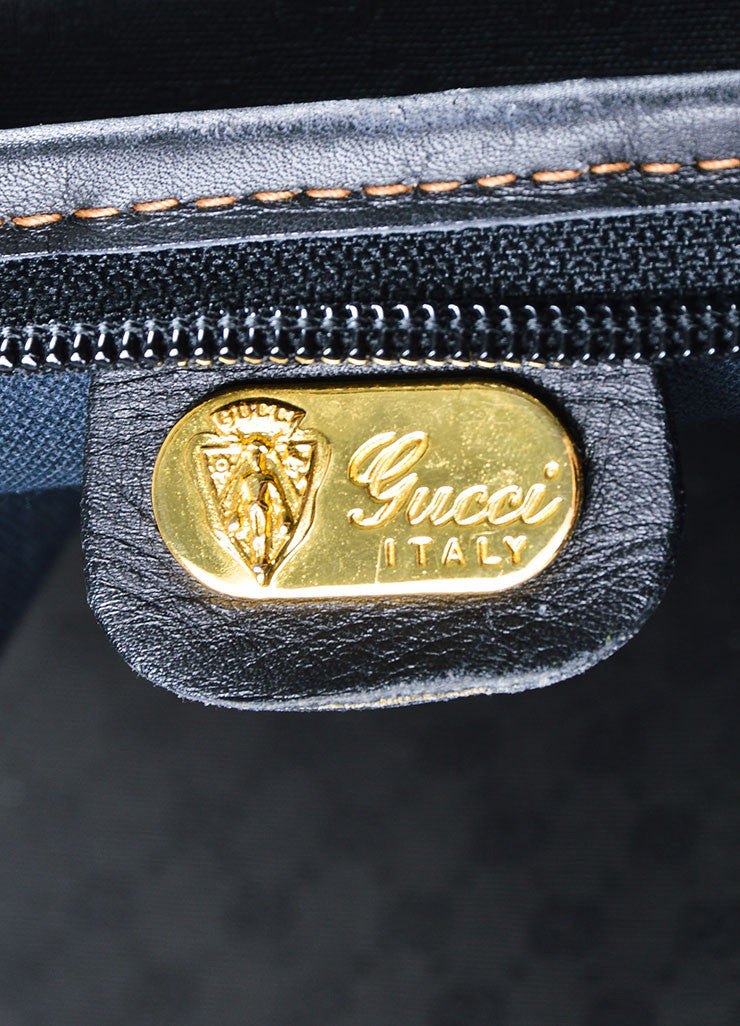 Black Gucci Monogram Coated Canvas Hanging Garment Bag Brand