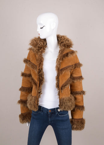 Brown Suede and Shearling Jacket