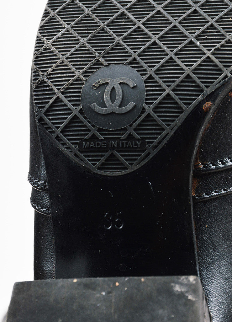 Chanel Black Leather Quilted Heel Zipped Knee High Riding Boots Brand
