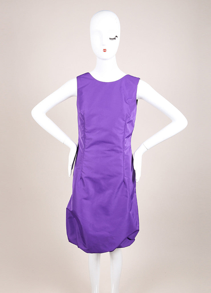 Dolce & Gabbana New With Tags Purple Sleeveless Bubble Hem Dress Frontview
